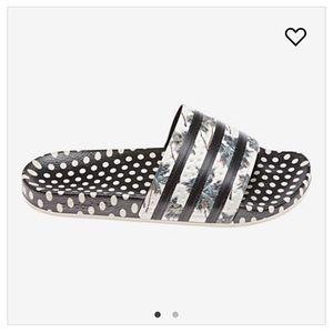 adidas Adilette slide sandal polka dot stripe 6